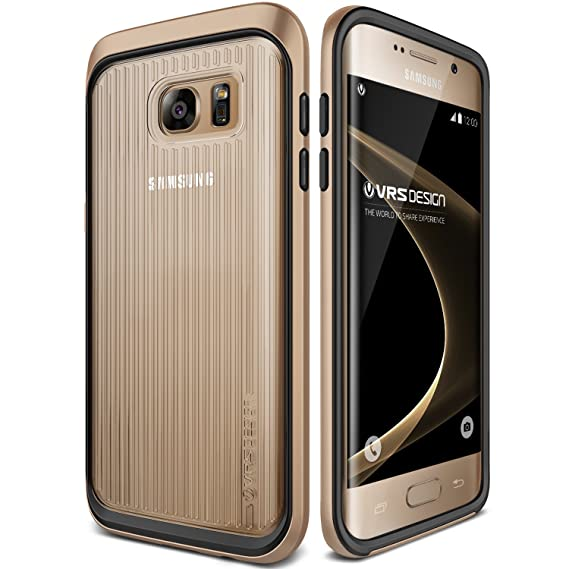 low priced f9ace 6edb3 Galaxy S7 Edge Case, VRS Design [Triple Mixx][Shine Gold] - [Clear  Cover][Drop Protection][Slim Fit] For Samsung S7 Edge