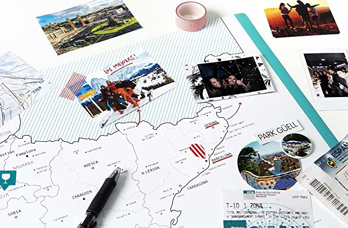 Mapa Personalizado de España con 101 planes geniales.: Amazon.es: Bricolaje y herramientas