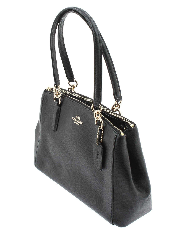 COACH Crossgrain Leather Christie Carryall Shoulder Bag Handbag Black 36606 by Coach (Image #3)