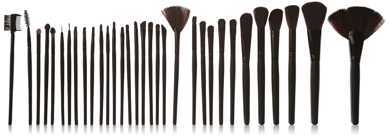 f0bb0919d84e Amazon.com  DragonPad 32 Pcs Black Rod Makeup Brush Cosmetic Set Kit with  Case  Beauty