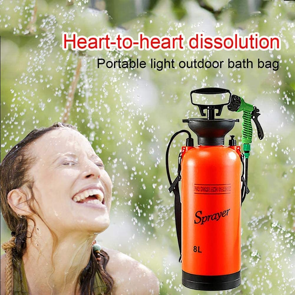 ytrew Camping-Dusche Campingdusche Solardusche Tasche 8L tragbare Solar Gartendusche Au/ßen Warmwasser Dusche Reisedusche mit Thermometer EIN//aus Schaltbarem Duschkopf