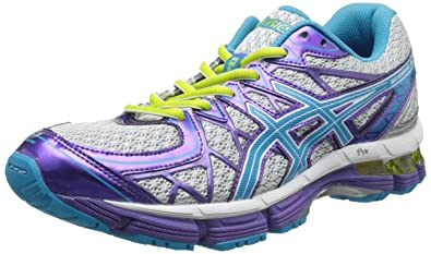 ASICS Gel-Kayano 20 GS Running Shoe,Platinum/Island Blue/Limeade,