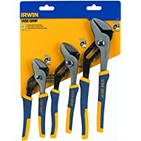 IRWIN Tools VISE-GRIP Groove Joint Pliers Set, 3-Piece (1773638)