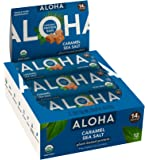 ALOHA Organic Plant Based Protein Bars |Caramel Sea Salt | 12 Count, 1.9oz Bars | Vegan, Low Sugar, Gluten Free, Paleo…