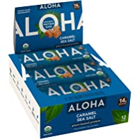 ALOHA Organic Plant Based Protein Bars |Caramel Sea Salt | 12 Count, 1.9oz Bars | Vegan, Low Sugar, Gluten Free, Paleo…