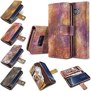 Prevently NEUF haute qualité Creative Forêt Couleur Flip carte magnétique Portefeuille Cuir PU Coque support Housse pour Samsung Note 8