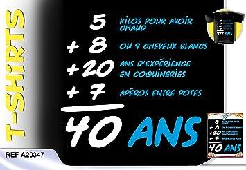 Tee Shirt Anniversaire Addition 40 Ans Homme Amazonfr Jeux Et Jouets