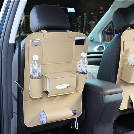 M baby piel sintética asiento trasero coche organizador del asiento Bolsillo pantalla almacenamiento para iPad