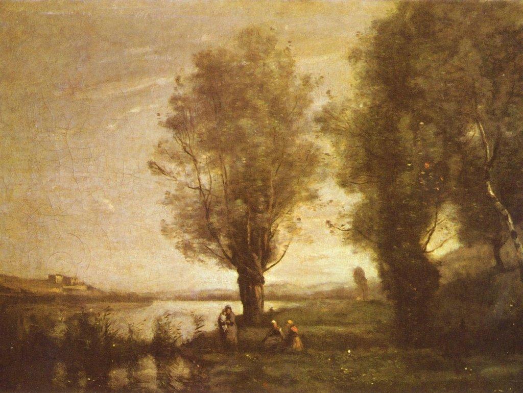 Lais Puzzle Jean-Baptiste-Camille Corot - Riposo sotto i pascoli dall'acqua 2000 Pezzi