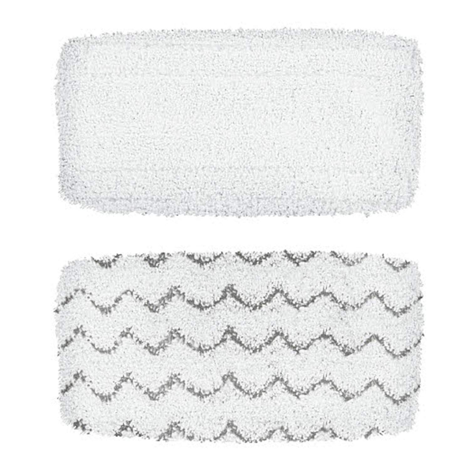 BISSELL Vac & Steam Mop Pads | Replacement Mop Pad For BISSELL Vac & Steam | 1 Delicate Pad, 1 Scrubbing Pad | 1252
