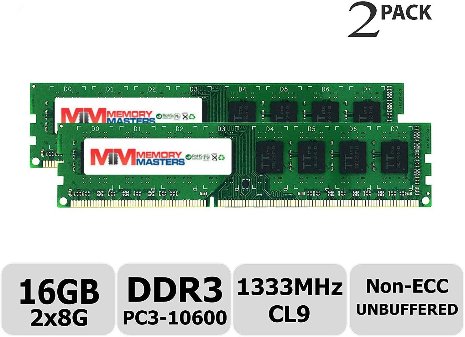 PARTS-QUICK Brand 2GB Memory Upgrade for Gigabyte G1.Sniper 5 Motherboard DDR3 PC3-10600 1333MHz DIMM Non-ECC Desktop RAM