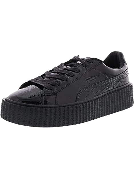 ad52e1824784c8 PUMA Women s Creeper Wrinkled Patent Black Ankle-High Leather Fashion  Sneaker ...
