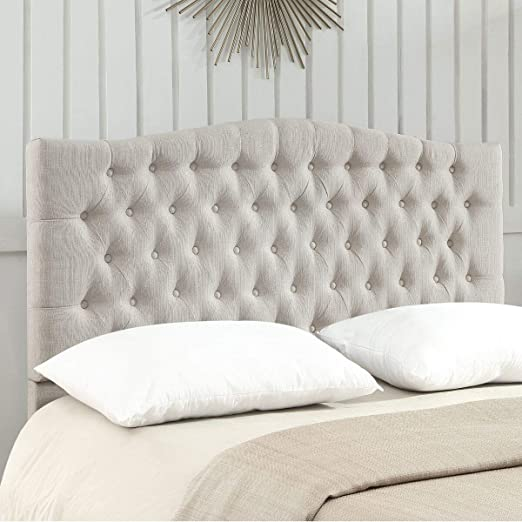 Amazon Com 24kf Upholstered Button Tufted Queen Headboard And
