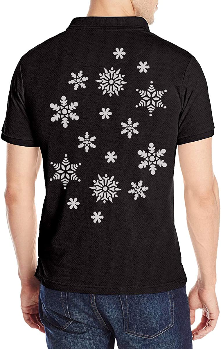 Men/â/€s Snowflake Polo Tshirt for Men