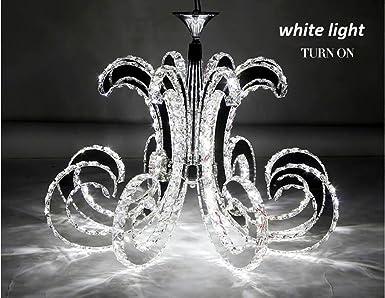 Getop D30.7 Inch X H19.68 Inch Modern Luxury LED Crystal Chandelier Art Lustre LED Chip Design Ceiling Light Fixture cold white