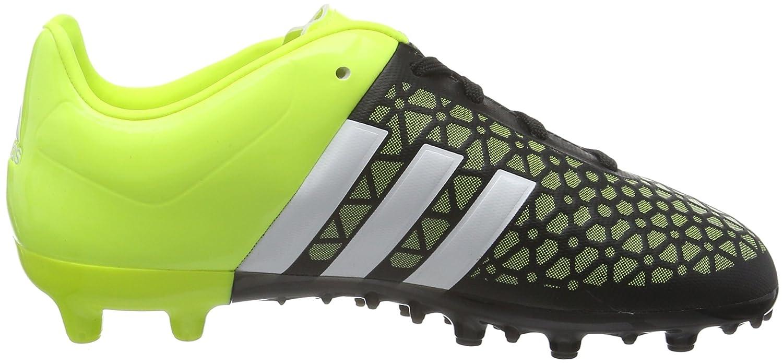 adidas Ace15.3 Terrain, Chaussures de Football Compã©Tition Garã§On, Multicolore (Black/Yellow/White), 35 EU