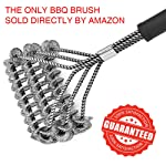 Professional BBQ Grill Brush, 100% Rust-Proof High-Nickel Stainless Steel, Safe for All Stainless Steel, Ceramic, Iron...