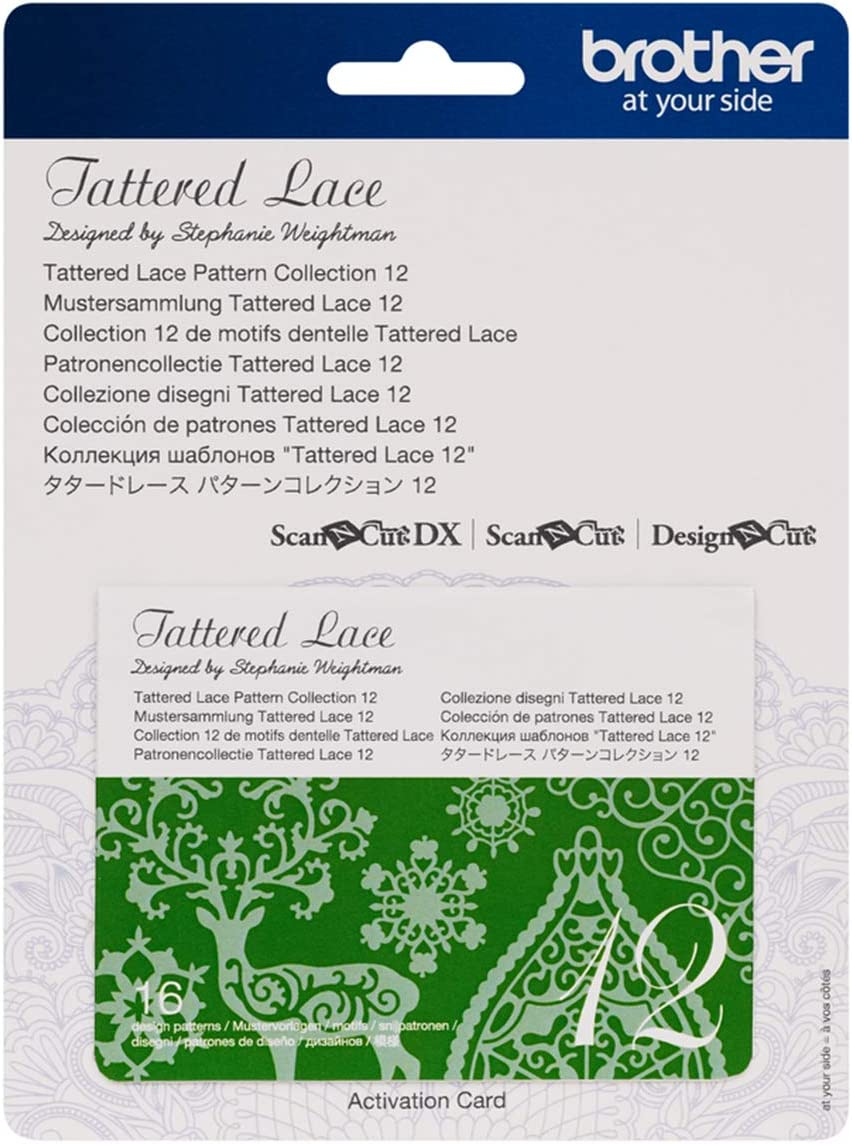 White Brother CATTLP12 ScanNCut Series Tattered Lace 12 Pattern Collection