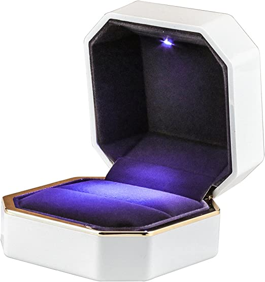 Hi-Quality Velvet Jewelry rings Box Ring Showcase Wedding Bracelet Necklace Gift