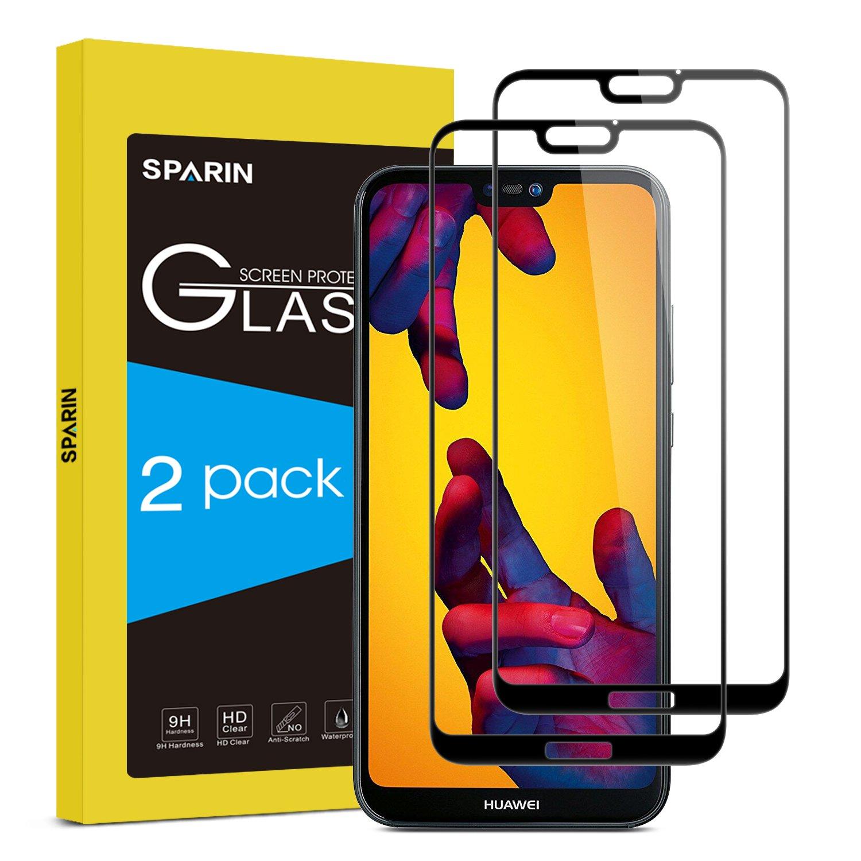 SPARIN [2 Stücke Huawei P20 lite Panzerglas, Schutzfolie Displayschutzfolie mit [9H Härte] [Anti-Kratzen] [Blasenfrei] [2.5D Rand] [HD Klar] LSP-Screen-Huawei P 20 Lite