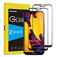 SPARIN [2 Stücke Huawei P20 lite Panzerglas, Schutzfolie Displayschutzfolie mit [9H Härte] [Anti-Kratzen] [Blasenfrei] [2.5D Rand] [HD Klar]