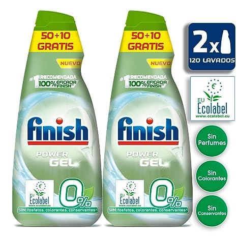Finish 0% Gel Detergente para Lavavajillas Ecológico, con ...