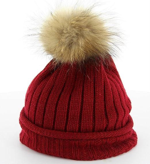 586df2ba88c0 Charleselie94®® - Bonnet - MEGEVE - Pompon Fourrure Marmotte - Femme Homme