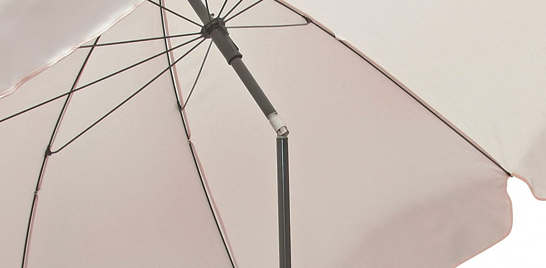 Color Blanco goodsun Sombrilla Redonda con 8/Varillas Medio de 200/cm