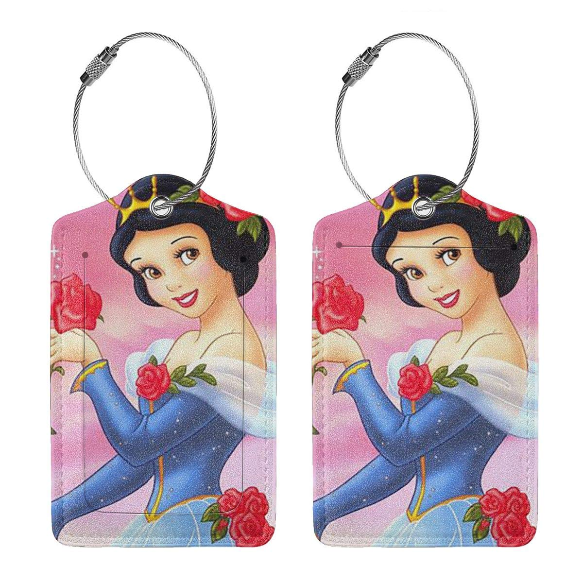 Suit For Travel,Vacation Fashion Snow White Soft Leather Luggage Tags With Privacy Cover 1-4 Pcs Choose