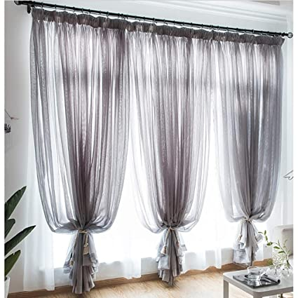 Amazon.com: Window Curtain Shading Cloth Pleated Curtain ...