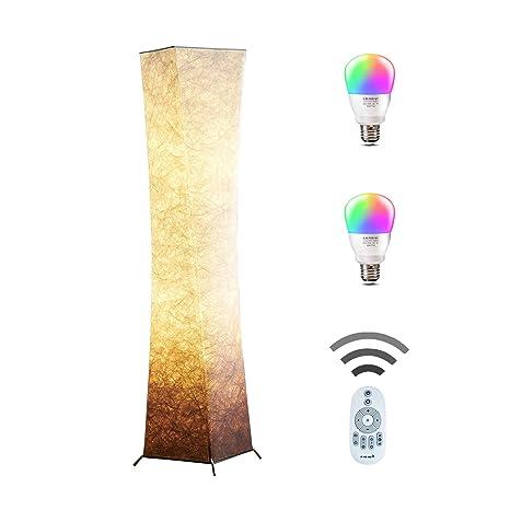 CHIPHY 52u0026quot; Creative RGB Floor Lamp Remote Control Soft Lighting,Minimalist  Modern OTT Stand