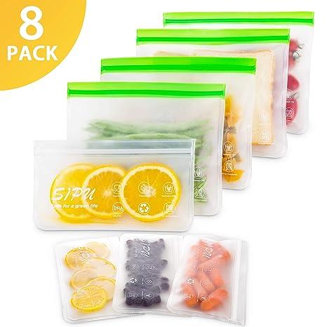 Amazon.com: Bolsa de silicona reutilizable para sándwiches ...