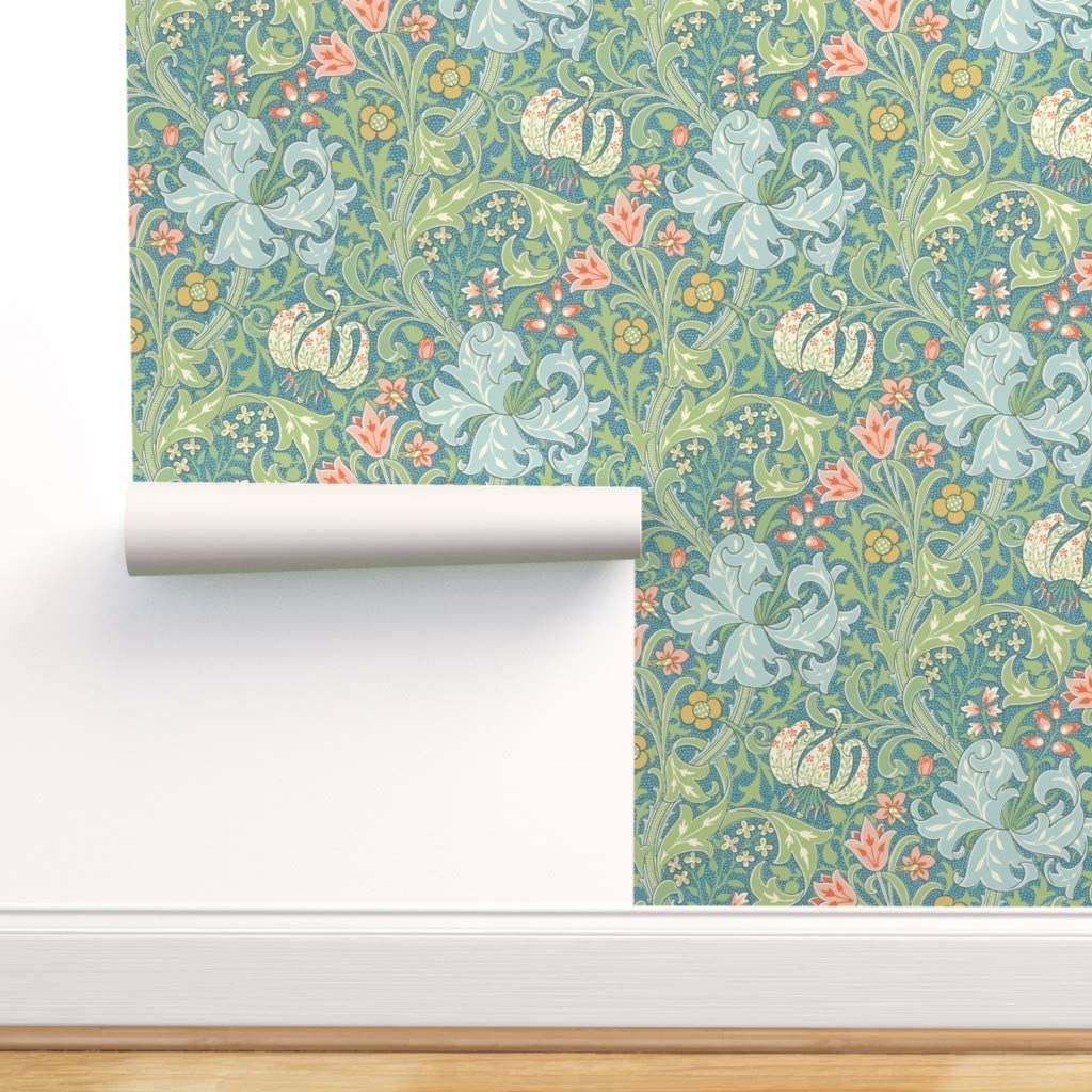 Peel And Stick Removable Wallpaper William Morris Golden Lily