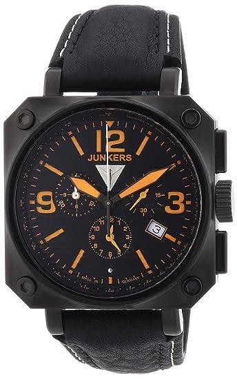 Junkers 6792-5 - Reloj cronógrafo de cuarzo para hombre, correa de cuero color
