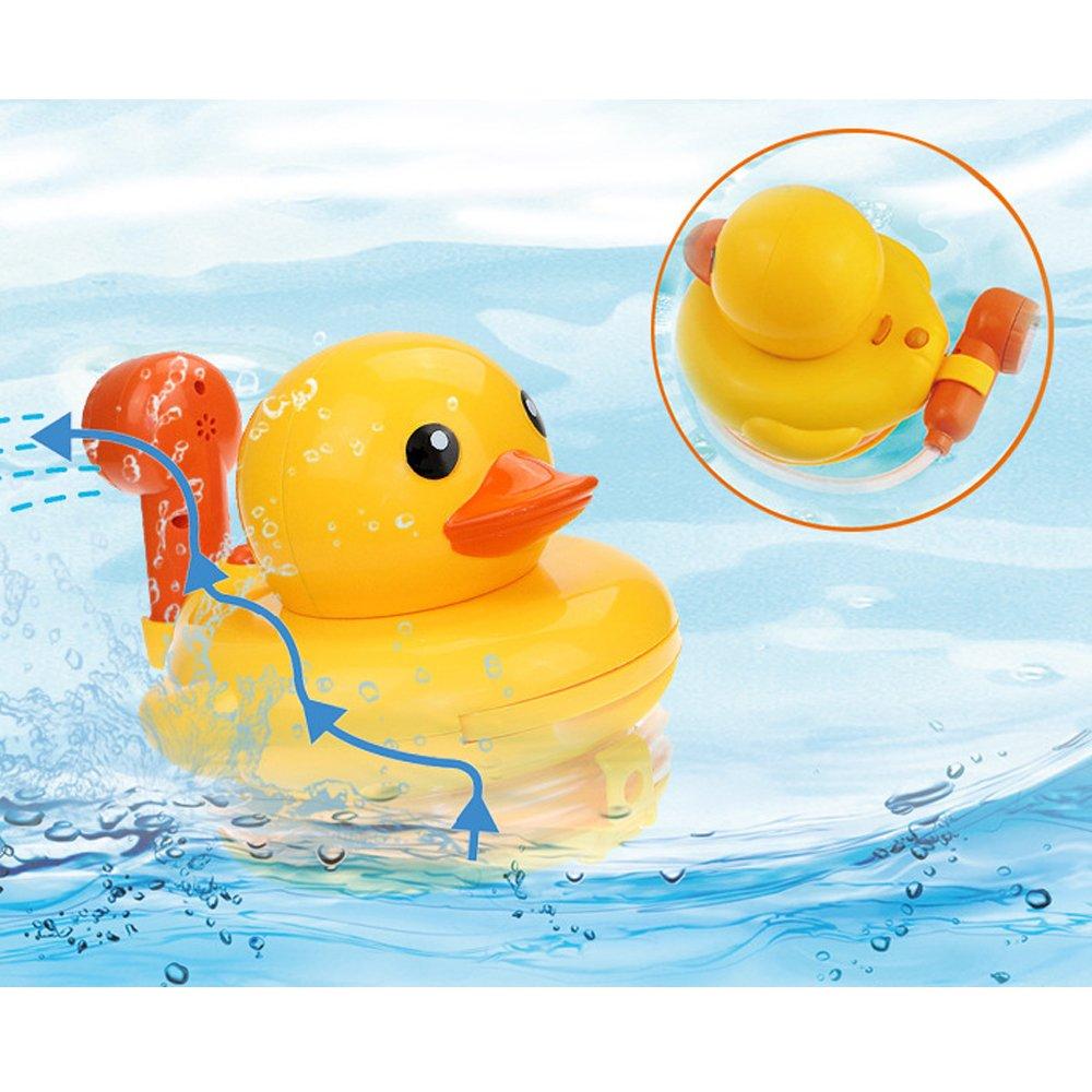 2 Stücke Nette Wind Up Schwimmen Gelbe Ente Kinder Baby Badezeit Wasser