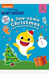 Pinkfong Baby Shark: A Jaw-some Christmas Coloring and Sticker Book Paperback