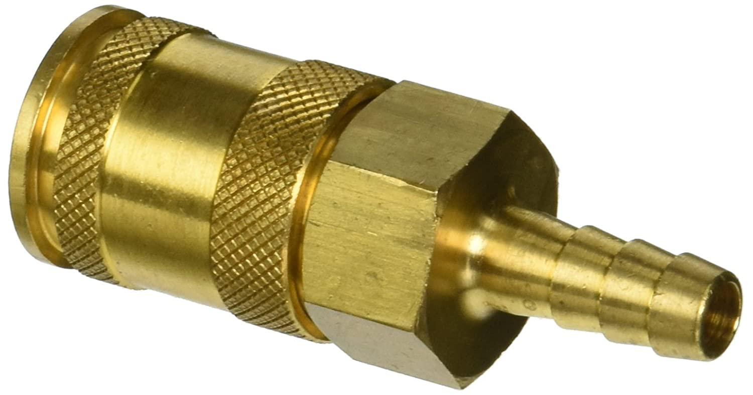 Socket 3//8 Coupler x 3//8 Hose ID Barbed 3//8 Coupler x 3//8 Hose ID Barbed Dixon Valve /& Coupling Dixon Valve 3US3-B Brass Automatic Universal Pneumatic Fitting