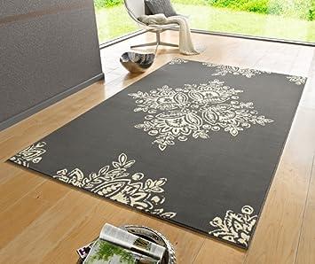 Tappeto grigio/beige/Tappeto moderno/motivo floreale/soggiorno ...