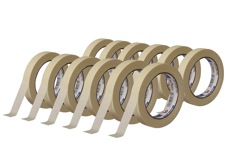 Pack 72 Cinta de carrocero KREPP CARFIX 24mm x 45m resistente alta temperatura