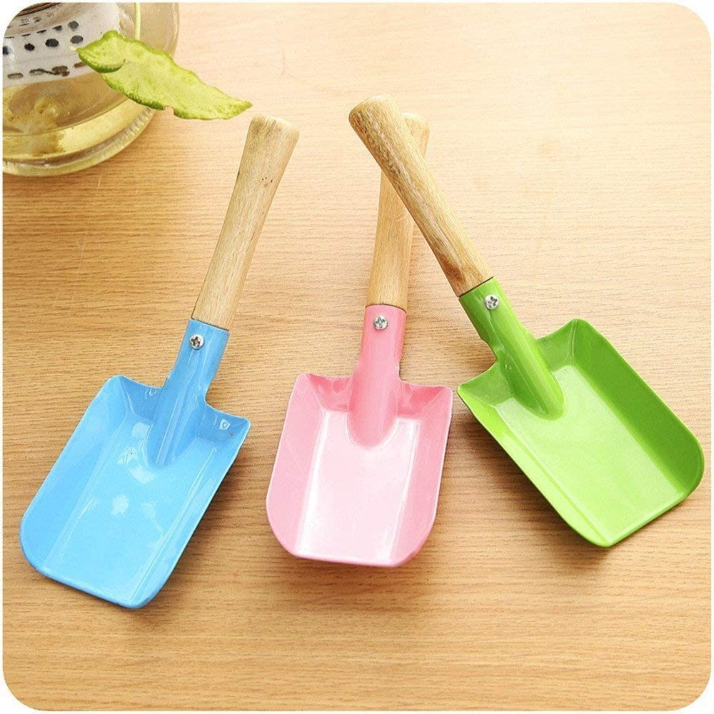 Pink//Blue//Red//Green Ymeibe Metal Garden Hand Shovel for Kids Lovely Small Gardening Shovel Set with Powder Coating Household Digging Lawn Trowel Shovel for Indoor Outdoor Use