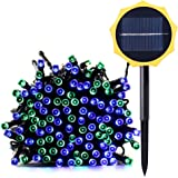 Qedertek Solar String Lights, 72 Ft 200 LED Waterproof Fairy Decorative Lighting for Indoor/Outdoor, Patio, Lawn, Garden, Party, Wedding, Holiday Decorations, and Christmas (Blue & Green)
