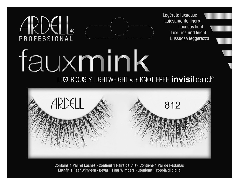 2ddf9480bd2 Amazon.com: Ardell Faux Mink #812 Black Lashes (2 Pack): Beauty