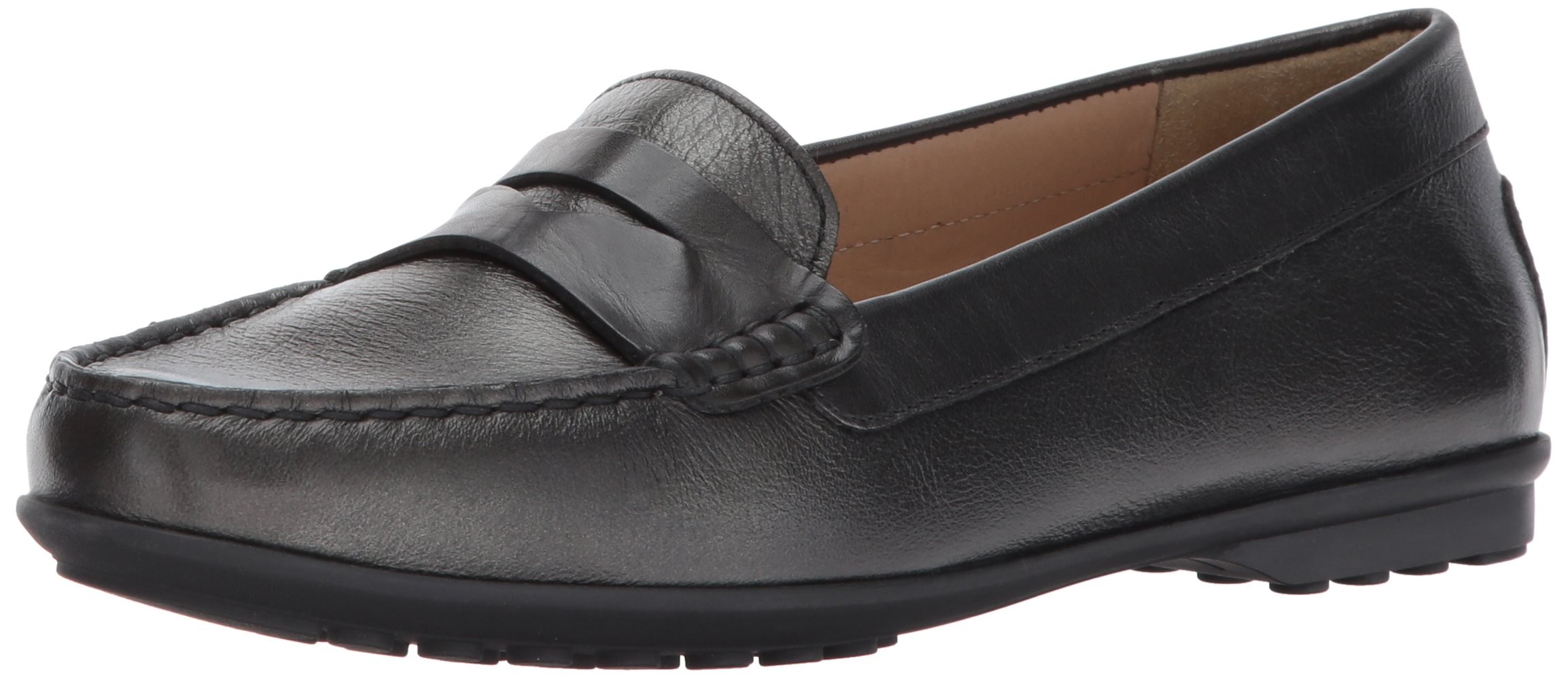 Geox Women's Elidia 5 Slip-on Loafer, Gun/Anthracite, 41 EU/10.5 M US by Geox