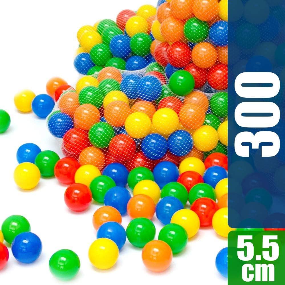 LittleTom 300 Pelotas para Bebés Niño 5,5cm Bolas de Colores para ...