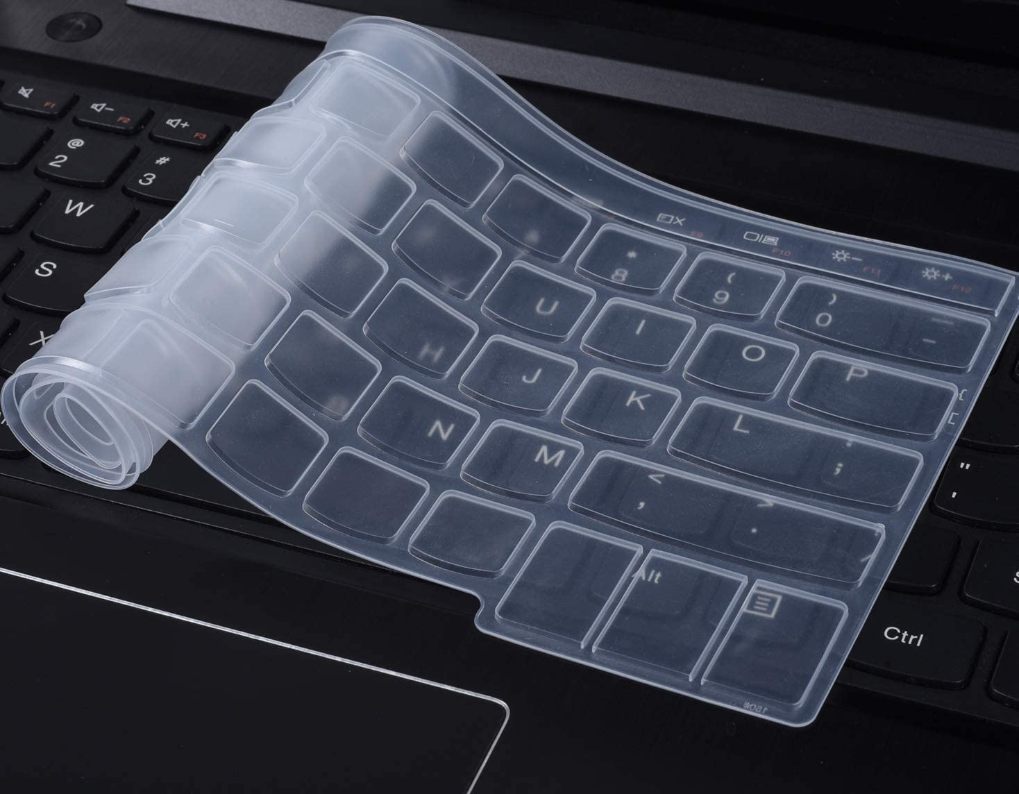 """BingoBuy US Layout Keyboard Protector Skin Cover for Lenovo ThinkPad X1 Extreme Gen 3, P1 Gen 3 (15""""), P14s (14"""") with BingoBuy Card Case (Clear)"""