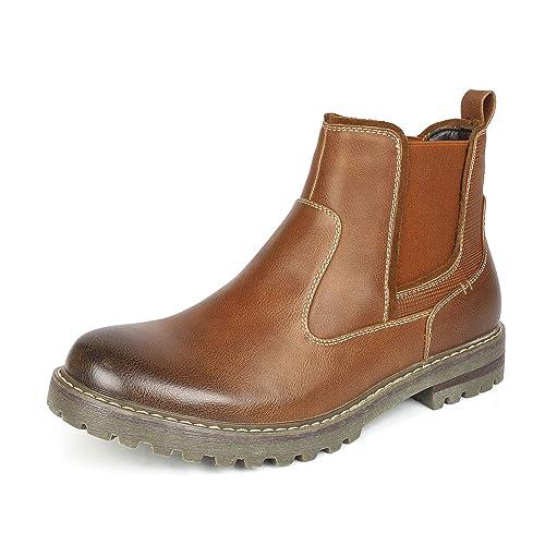 d14e5291029 Bruno Marc Men's Casual Chelsea Ankle Boots