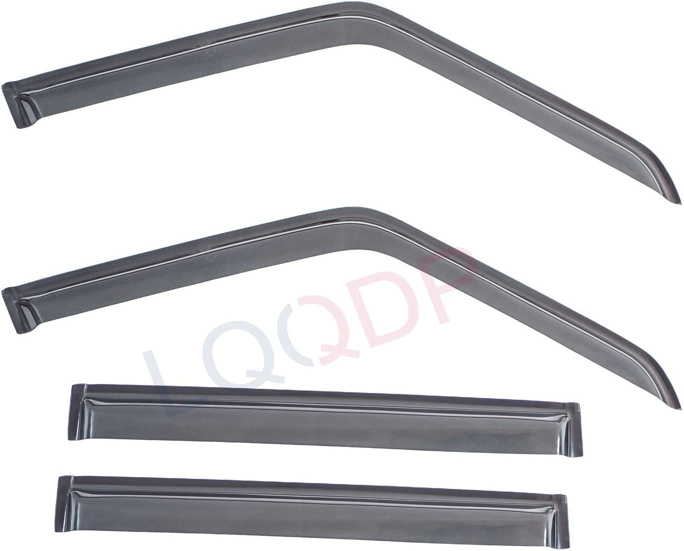 LQQDP 4pcs Front+Rear Smoke Sun//Rain Guard Outside Mount Tape-On Vent Shade Window Visors Fit 84-01 Jeep Cherokee 4-Door