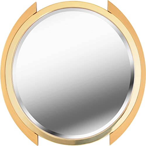 Kenroy Home Modern Wall Mirror ,36 Inch Diameter, 1 Inch Ext with Gold Finish