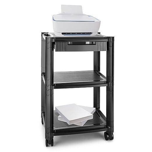 auna P-Stand Mesa con ruedas para impresora (guía de cables ...