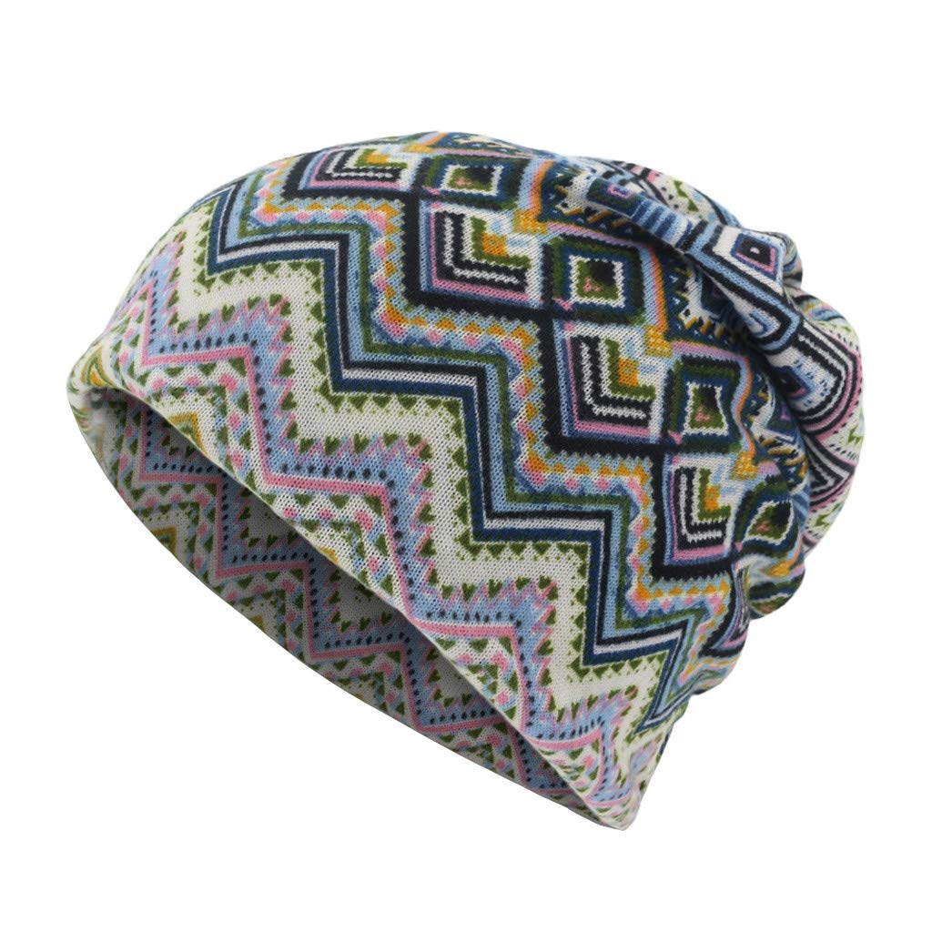 YunZyun Women Letter Print Scarf Diamond Beanie Cap Casaul Outdoor Convertible Windproof Hats Geometry Stars Soft Keep Warm Floral Novelty Caps for Mens Woemns